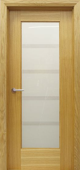 Shaker 1 Lite Vision Glass White Oak Door (40mm)
